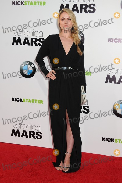 Amanda Noret Photo - 12 March 2014 - Hollywood California - Amanda Noret Veronica Mars Los Angeles Premiere held at the TCL Chinese Theatre Photo Credit Byron PurvisAdMedia