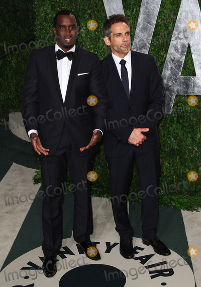 P Diddy Combs Photo - 26 February 2012 - West Hollywood California - Sean P Diddy Combs Ben Stiller 2012 Vanity Fair Oscar Party held at the Sunset Tower Photo Credit Faye SadouAdMedia
