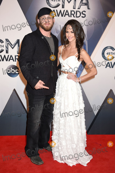 Brantley Gilbert Photo - 4 November 2015 - Nashville Tennessee - Brantley Gilbert Amber Cochran 49th CMA Awards Country Musics Biggest Night held at Bridgestone Arena Photo Credit Laura FarrAdMedia