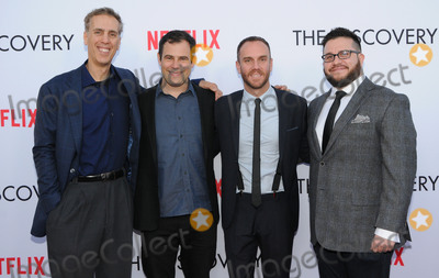 Alex Orlovsky Photo - 29 March 2017 - Los Angeles California - Alex Orlovsky Charlie McDowell Justin lader  Premiere Of Netflixs The Discovery held at The Vista Theater in Los Angeles Photo Credit Birdie ThompsonAdMedia