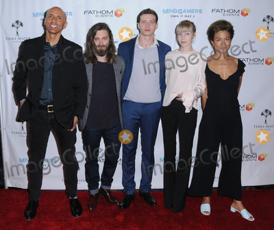 Antonia Campbell-Hughes Photo - 26 March 2017 - Los Angeles California - Andrew Goth Tom Payne Oliver Clark Antonia Campbell-Hughes Anouk Shad  Fathom Events And Terra Mater Film Studios Premiere Event For MindGamers One Thousand Minds Connected Live held at Regal Cinemas at LA Live in Los Angeles Photo Credit Birdie ThompsonAdMedia