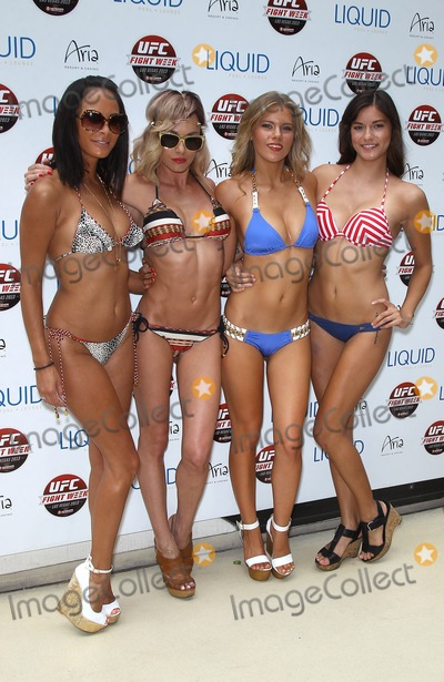 Kenda Perez Photo - 04 July 2013 - Las Vegas NV -  Kenda Perez Rachelle Leah Chrissy Blair Vanessa Hanson UFC Fighters and Octagon Girls at Liquid Pool Lounge at Aria Photo Credit mjtAdMedia