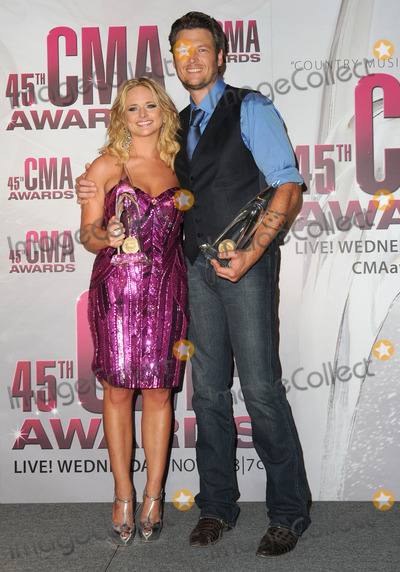 Miranda Lambert Photo - 09 November 2011 - Nashville Tennessee - Miranda Lambert and Blake Shelton The 45th Annual CMA Awards Country Musics Biggest Night held at Bridgestone Arena Photo Credit George ShepherdAdMedia