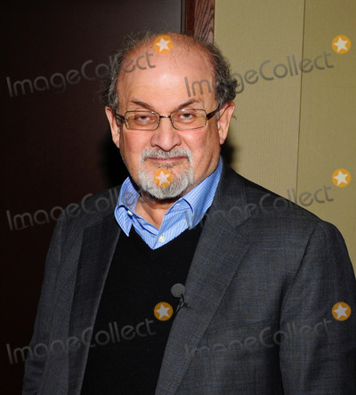 Salman Rushdie Photo - 26 October 2012 - Hamilton Ontario Canada  British author Salman Rushdie poses in the green room during an apperance at the Lincoln Alexander Centre to discuss his latest book Joseph Anton A Memoir Photo Credit Brent PerniacAdMedia