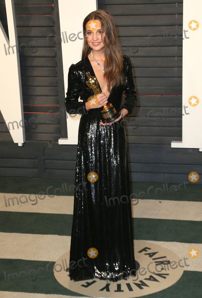Alicia Vikander Photo - 28 February 2016 - Beverly Hills California - Alicia Vikander 2016 Vanity Fair Oscar Party hosted by Graydon Carter following the 88th Academy Awards held at the Wallis Annenberg Center for the Performing Arts Photo Credit Byron PurvisAdMedia