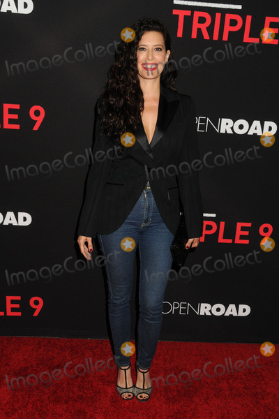 Angie Cepeda Photo - 16 February 2016 - Los Angeles California - Angie Cepeda Triple 9 Los Angeles Premiere held at Regal Cinemas LA Live Photo Credit Byron PurvisAdMedia