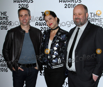 Aaron Greenberg Photo - 1 December 2016 - Los Angeles California - Dan Ayoub Kiki Wolfkill and Aaron Greenberg The Game Awards 2016 held at the Microsoft Theatre Photo Credit AdMedia