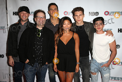 Al Calderon Photo - 11 July 2017 - West Hollywood California - Cory Krueckeberg Tom Gustafson Cheyenne Jackson Jenna Ushkowitz Nolan Gerard Funk Al Calderon Hello Again 2017 Outfest Los Angeles LGBT Film Festival Screening Photo Credit F SadouAdMedia