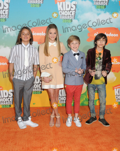 Aidan Gallagher Photo - 12 March 2016 - Inglewood California - Mace Coronel Lizzy Greene Casey Simpson Aidan Gallagher 2016 Nickelodeon Kids Choice Awards held at The Forum Photo Credit Byron PurvisAdMedia