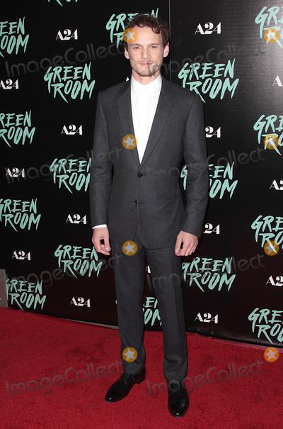 Anton Yelchin Photo - 13 April 2016 - Los Angeles California - Anton Yelchin Green Room Los Angeles Premiere held at  Arclight Hollywood Photo Credit Adam OrchonAdMedia