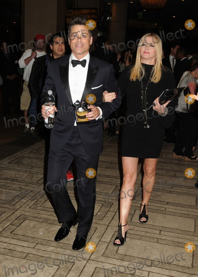 Sheryl Berkoff Photo - 12 January 2014 - Beverly Hills California - Rob Lowe Sheryl Berkoff Golden Globe Awards 2014 - Exits at the Beverly Hilton Photo Credit Byron PurvisAdMedia