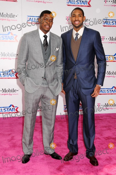 Al Horford Photo - 20 February 2011 - Los Angeles California - Joe Johnson and Al Horford T-Mobile Magenta Carpet at the 2011 NBA All-Star Game held at LA Live Photo Byron PurvisAdMedia