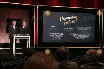 Ang Lee Photo - 14 January 2016 - Beverly Hills California - Ang Lee Guillermo del Toro Category Documentary Feature 88th Annual Oscars Nominations Announcement held at the Samuel Goldwyn Theater Photo Credit Byron PurvisAdMedia
