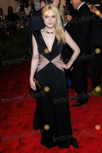 Dakota Fanning Photo - 06 May 2013 - New York New York- Dakota Fanning PUNK Chaos To Couture Costume Institute Gala held at the Metropolitan Museum of Art Photo Credit Christopher SmithAdMedia