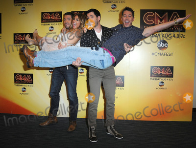Alison Victoria Photo - 12 June 2015 - Nashville Tennessee - Jonathan Scott Alison Victoria Drew Scott David Bromstad of HGTV 2015 CMA Music Festival Nightly Press Conference held at LP Field Photo Credit AdMedia