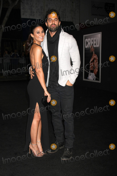 Adrian Bellani Photo - Emmanuelle Chriqui Adrian Bellaniat the Creed Los Angeles Premiere Village Theater Westwood CA 11-19-15