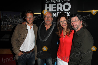 Ronald D Moore Photo - Jamie Bamber Edward James Olmos Mary McDonnell Ronald D Mooreat the Hero Complex Film Festival Battlestar Galactica Screening and cast QA Chinese 6 Hollywood CA 05-30-14