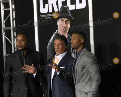 Carl Weathers Photo - Carl Weathers Sylvester Stallone Michael B Jordanat the Creed Los Angeles Premiere Village Theater Westwood CA 11-19-15