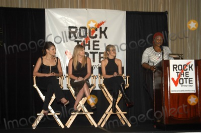 The Dixie Chicks Photo - Dixie Chicks with Jehmu Greene at Rock The Vote Launches New Online Voter Registration Campaign with The Dixie Chicks Hotel Del Mar Santa Monica Calif 07-21-03
