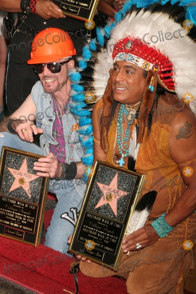 Village People Photo - David Hodo and Felipe Rose at the Hollywood Walk of Fame Ceremony Honoring the Band The Village People  Hollywood Boulevard Hollywood CA 09-12-08