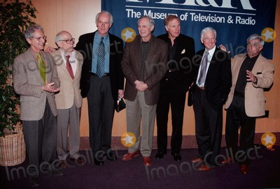 Jamie Farr Photo -  Allan Arbus Harry Morgan Mike Farrel Alan Alda Wayne Rogers William Christopher and Jamie Farr at the William Paley Television Festival honoring MASH at the Directors Guild 03-06-00