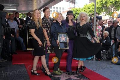 Kathy Valentine Photo - Charlotte Caffey Belinda Carlisle Gina Schock Kathy Valentine and Jane Wiedlinat the Go-Gos induction into the Hollywood Walk of Fame Hollywood CA 08-11-11