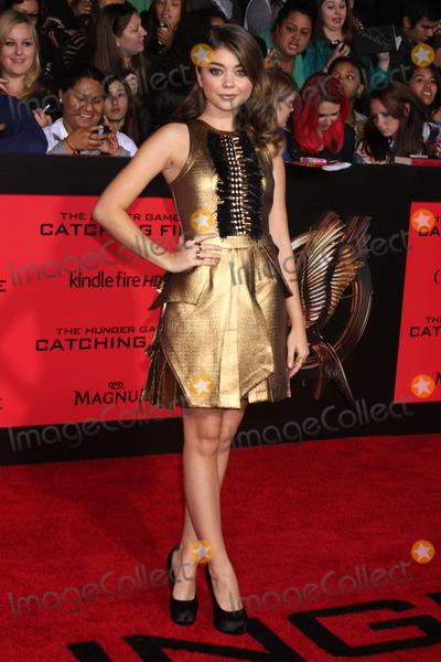Sarah Hyland Photo - Sarah Hylandat The Hunger Games Catching Fire Los Angeles Premiere Nokia Theatre LA Live Los Angeles CA 11-18-13