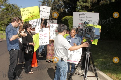 Casey Kasem Photo - Caset Kasems brother Mouner Kasem speaks to the pressat a protest involving Casey Kasems children brother and friends who want to see him but have been denied any contact  Private Location Holmby Hills CA 10-01-13