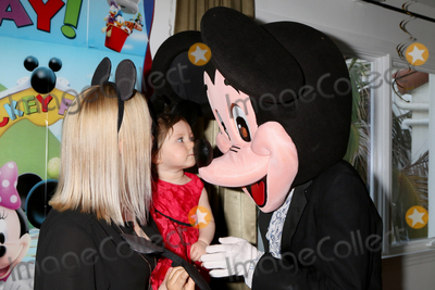 Adrienne Frantz Photo - LOS ANGELES - DEC 4  Adrienne Frantz Bailey Amelie Bailey Mickey Mouse character at the Amelie Baileys 1st Birthday Party at Private Residence on December 4 2016 in Studio CIty CA
