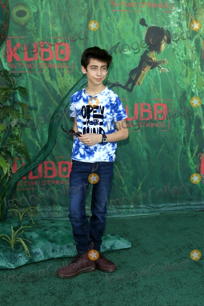 Aidan Gallagher Photo - LOS ANGELES - AUG 14  Aidan Gallagher at the Kubo and the Two Strings Premiere at the AMC Universal Citywalk on August 14 2016 in Universal City CA