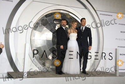 Jennifer Lawrence Photo - LOS ANGELES - DEC 14  Michael Sheen Jennifer Lawrence Chris Pratt at the Passengers Premiere at Village Theater on December 14 2016 in Westwood CA