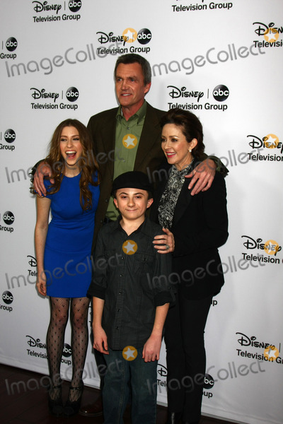 Atticus Shaffer Photo - LOS ANGELES - JAN 10  clockwise from left - Eden Sher Neil Flynn Patricia Heaton Atticus Shaffer attends the ABC TCA Winter 2013 Party at Langham Huntington Hotel on January 10 2013 in Pasadena CA