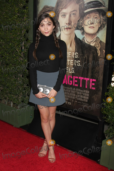 Rowan Blanchard Photo - LOS ANGELES - OCT 20  Rowan Blanchard at the Suffragette LA Premiere at the Samuel Goldwyn Theater on October 20 2015 in Beverly Hills CA