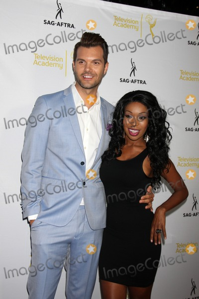 AJ Gibson Photo - LOS ANGELES - AUG 12  AJ Gibson Porscha Coleman at the Dynamic  Diverse  A 66th Emmy Awards Celebration of Diversity Event at Television Academy on August 12 2014 in North Hollywood CA