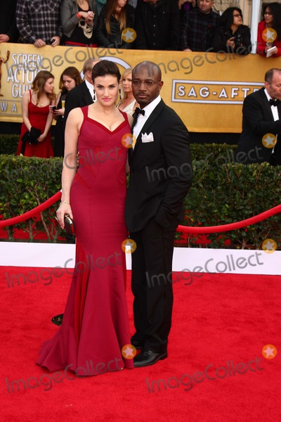 Taye Diggs Photo - LOS ANGELES - JAN 27  Idina Menzel Taye Diggs arrives at the 2013 Screen Actors Guild Awards at the Shrine Auditorium on January 27 2013 in Los Angeles CA