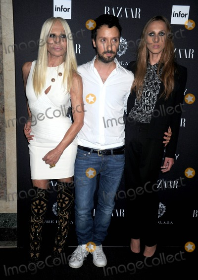 Allegra Beck Photo - Photo by Dennis Van TinestarmaxinccomSTAR MAX2014ALL RIGHTS RESERVEDTelephoneFax (212) 995-11969514Donatella Versace Anthony Vaccariello and Allegra Beck at the Moet  Chandon and Belvedere Vodka Toast to Harpers Bazaar Icons(NYC)