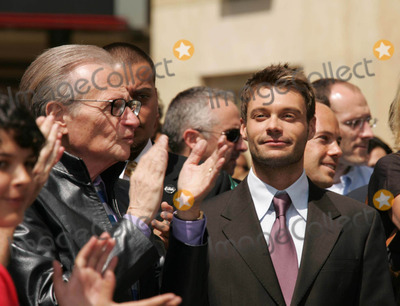 Larry King Photo - Photo by REWestcomstarmaxinccom200542005Ryan Seacrest with Larry King receives his star on the Hollywood Walk of Fame(Hollywood CA)