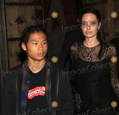ANGELINA JOLIE Photo - Photo by gotpapstarmaxinccomSTAR MAX2017ALL RIGHTS RESERVEDTelephoneFax (212) 995-119651417Angelina Jolie and Pax are seen in Los Angeles CA