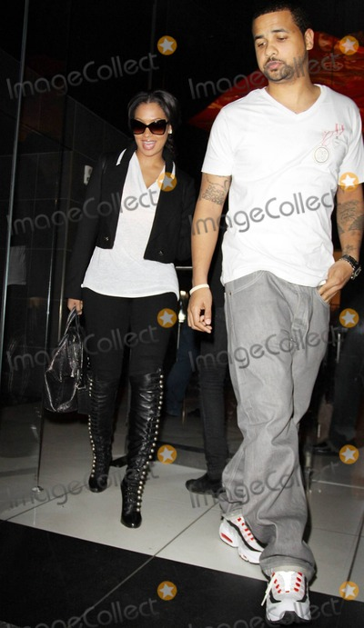 Alani Vazquez Photo - In stellar Christian Louboutin knee-high lace up leather boots former MTV veejay actress and television personality Lala Vazquez (aka Alani Vazquez) gets a helping hand from a friend as they leave Katsuya restaurant  RB singer Ciara wore the same pair of boots just a couple of weeks ago to a Christmas Eve basketball game Los Angeles CA 010611