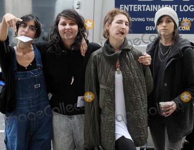 Fun Lovin Criminals Photo - Los Angeles band Warpaint goof around outside BBC Radio studios before appearing on Huey Morgans BBC Radio 6 Fun Lovin Criminals show  Warpaint released their debut album on Monday and are currently on a European tour  London UK 102810