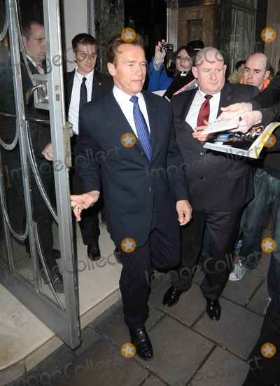 Mikhail Gorbachev Photo - Actor and former Governor of California Arnold Schwarzenegger arrives at his London hotel in casual clothes and later leaves in a sharp suit heading to Royal Albert Hall to celebrate Mikhail Gorbachevs 80th birthday at a gala event hosted by Sharon Stone and Kevin Spacey London UK 033011