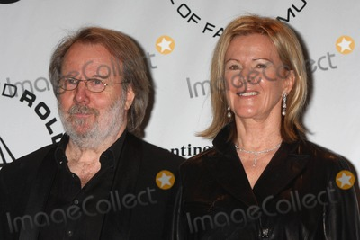 Annifrid Lyngstad Photo - BENNY ANDERSSON and ANNI-FRID FRIDA LYNGSTAD PRINSESSAN REUSS of ABBA at the 25th annual induction ceremony of The Rock and Roll Hall of Fame Foundation at The Waldorf-Astoria in New York City on 03-15-2010  Photo by Henry McGee-Globe Photos Inc 2010K64883HMc