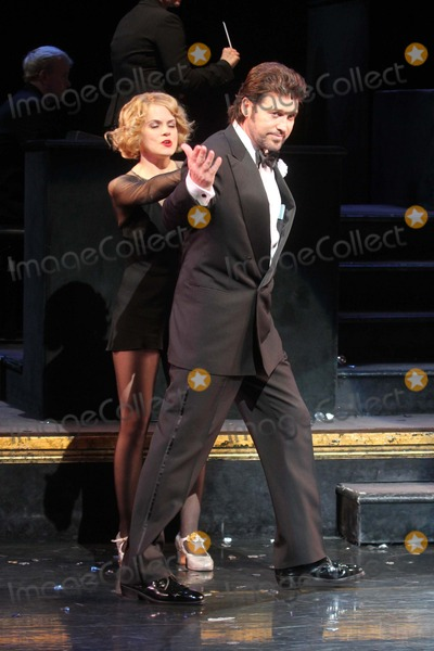 Amy Spanger Photo - Billy Ray Cyrus with Co-star Amy Spanger Takes His Opening Night Curtain Call After Making His Broadway Debut in the Musical Chicago at the Ambassador Theatre in New York City on 11-05-2012 Photo by Henry Mcgee-Globe Photos Inc 2012
