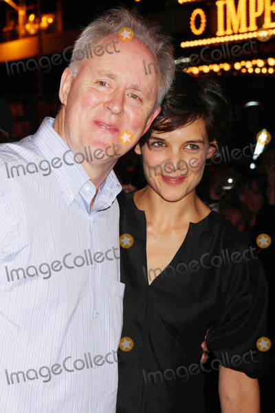 John Holmes Photo - John Lithgow and Katie Holmes After First Preview Performance of Arthur Millers All My Sons at the Gerald Schoenfeld Theatre in New York City on 09-18-2008 Photo by Henry McgeeGlobe Photos Inc 2008