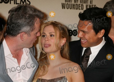 Adam Beach Photo - NYC  052307Anna Paquin (with blonde hair) sticking out her tongue at Aidan Quinn while posing with Adam Beach at the premiere of their new movie BURY MY HEART AT WOUNDED KNEE at the American Museum of Natural HistoryDigital Photo by Adam Nemser-PHOTOlinknet