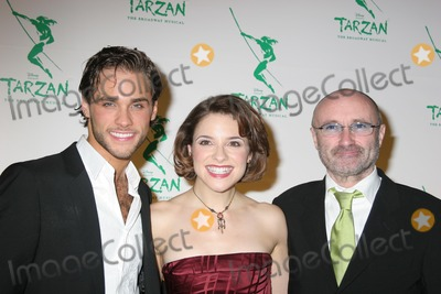 Phil Collins Photo - NYC  051006Former American Idol contestant Josh Strickland (Tarzan) and Jenn Gambatese (Jane) with Phil Collins at the opening night party for the new Broadway musical TARZAN presented by Disney at the Marriott MarquisDigital Photo by Adam Nemser-PHOTOlinknet