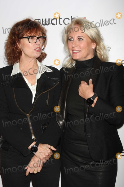 Arlette-Elsa Emch Photo - NYC  100610Susan Sarandon and Madame Arlette-Elsa Emch (head of Swatch global) at the launch of the Swatch New Gents Collection at The Gansevoort Park AvePhoto by Adam Nemser-PHOTOlinknet