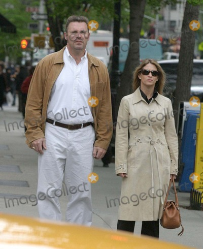 Howie long photo nyc 050105exclusive howie long and wife walking on