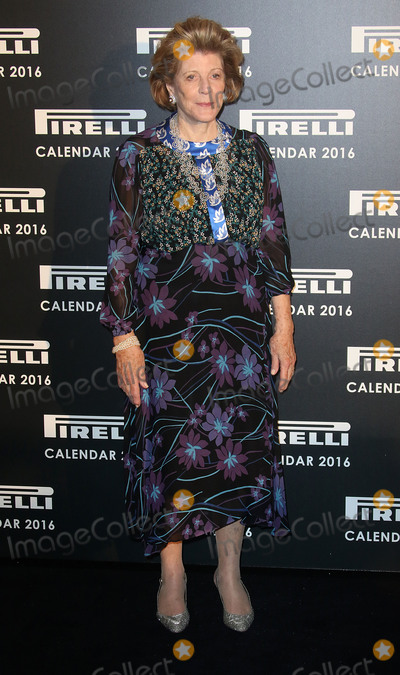 Agnes Gund Photo - November 30 2015 - Agnes Gund attending Gala Evening To Celebrate The Pirelli Calendar 2016 By Annie Leibovitz at The Roundhouse in Camden London UK