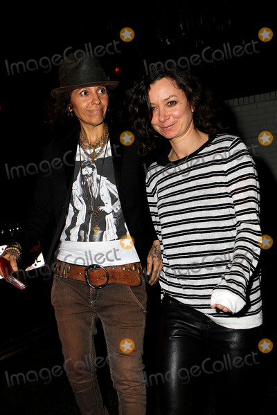 Sara Gilbert Photo - February 26 2014 LASinger-songwriter Linda Perry (L) and actress Sara Gilbert arriving at the Annie Leibovitz Book Launch presented by Vanity Fair at Chateau Marmont on February 26 2014 in Los Angeles California